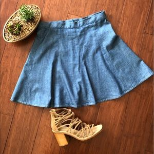 Rag & Bone chambray gored skirt